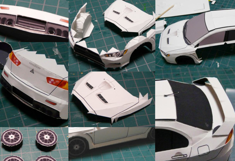 Papercraft EvoX Steps in KakiDIY